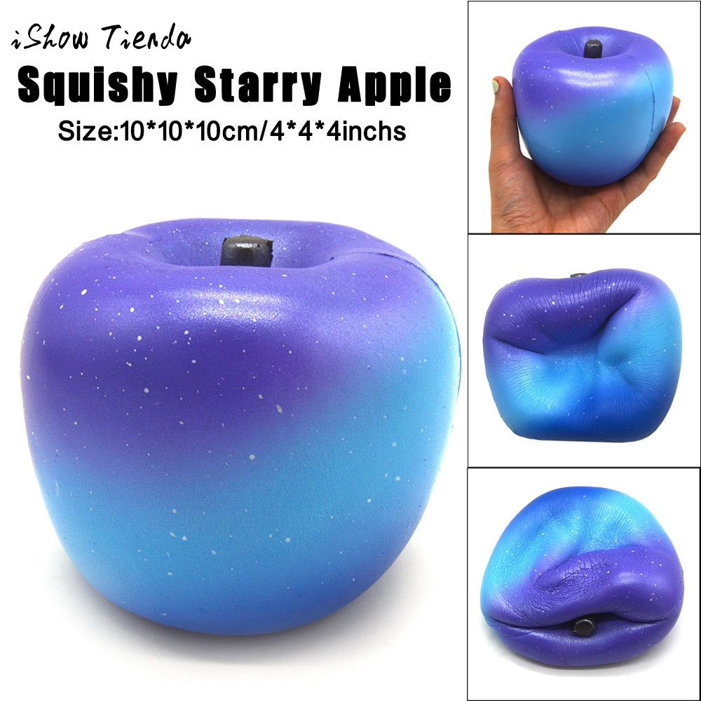 Starry 10cm Cream Scented Big Kawaii Jumbo Squishy Peach Apple Super Slow Rising Squeeze Soft Scented Fruits Fun Kids Toys