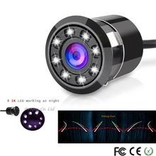 Yyzsdyjq интеллектуальные динамические траектории треков 18.5 мм 8 ИК заднего вида Камера CCD обратный Ночное видение резервного копирования Камера, бесплатная доставка