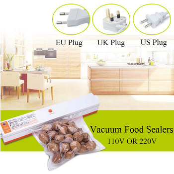 Kitchen Appliances Vacuum Food Sealing Sealer Machine with Bags Vacuum Packing Machine Packers for Home 110V 220V EU/UK/US Plug 6