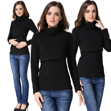 Fashion Nursing Tops Maternity sweater Breast feeding clothes autumn and winter Nursing Tops Long Sleeve for Pregnant Women