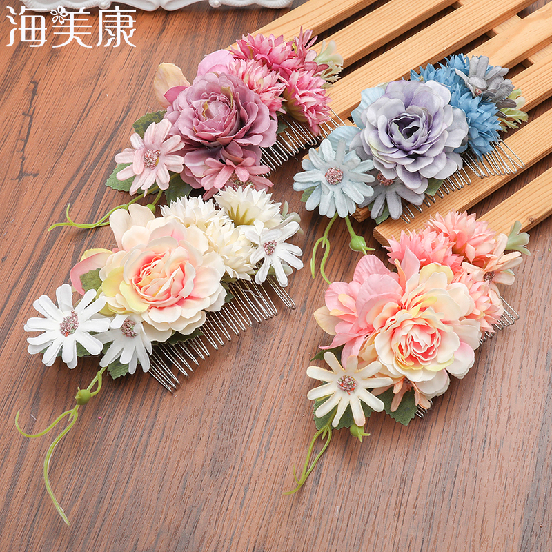Haimeikang New Woodland Flower Hair Comb Bridal   Headwear   Handmade Wedding Jewelry Hair Accessories Combs Women Headpiece
