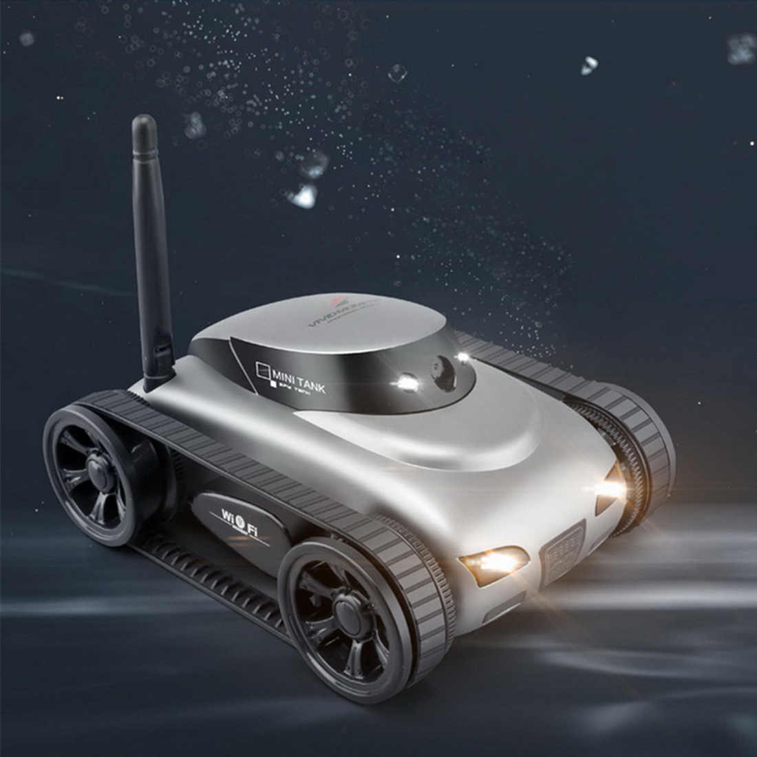 2019 Outdoor Hunting Camera WIFI Real-time Transmission APP Controlled Tactical Mini Caterpillar Tank RC Car with 2MP Camera