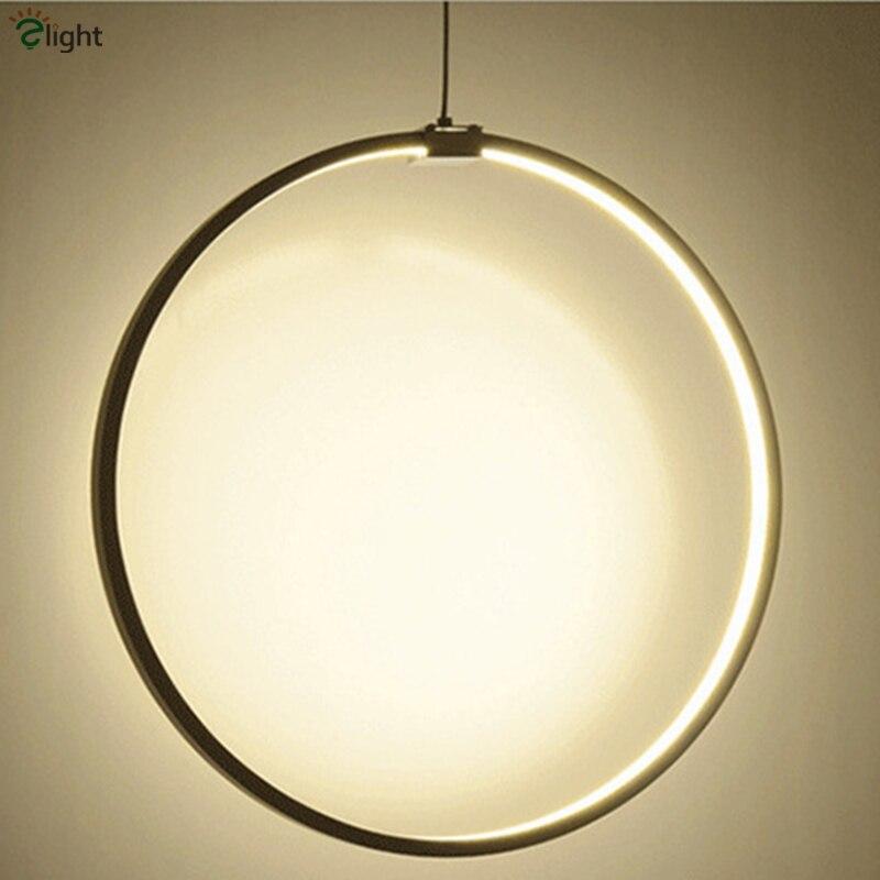 Moderne diy aluminium ring led anhänger kronleuchter licht glanz - Innenbeleuchtung - Foto 6