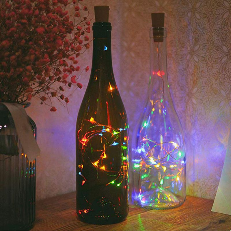Home Decorative Lights Copper Wire String Light Garland Christmas Fairy Lights For Glass Craft Bottle