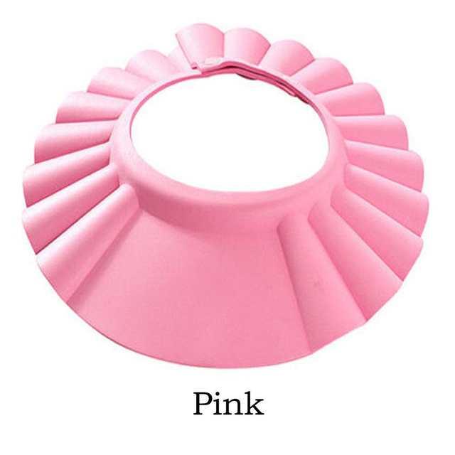 0694347f2 US $1.0 22% OFF Waterproof Shampoo Caps Bathing Bath Protect Soft Cap Wash  Head Baby Newborn Shower Folding Adjustable Cap Hat-in Shampoo Cap from ...