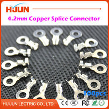 100pcs/lot 4.2mm Copper Circular Splice Terminal L3 Wire Naked Connector Free Shipping