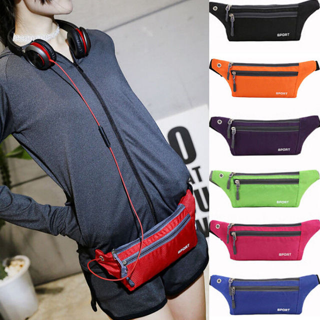 2018 Brand New Women Sports Running Belt Waist Pocket Bum Bags Cycling Jogging Travel Pack Holiday Wallet