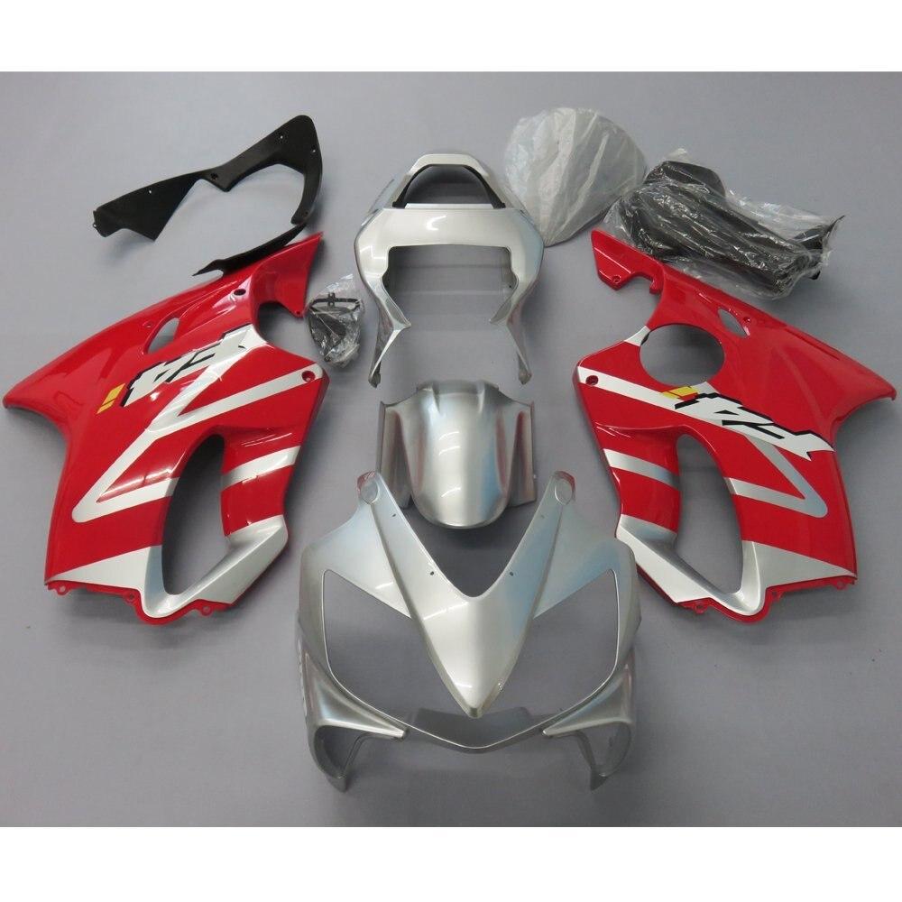 Kit de carénage de moulage par Injection de moto pour Honda CBR 600 F4I 2001 2002 2003 CBR600 01-03 carénages cadre rouge argent peint aux UV