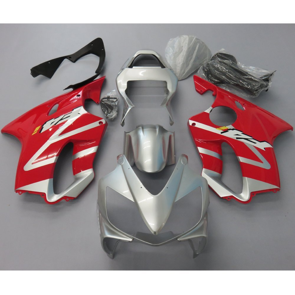 Motorcycle Injection Molding Fairing Kit For Honda CBR 600 F4I 2001 2002 2003 CBR600 01-03 Fairings Frame Red Silver UV Painted h000042190 main board for toshiba satellite c875d l875d laptop motherboard em1200 cpu ddr3