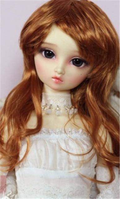 MSD 1/4 кукла парики длинные вьющиеся синтетических мохера куклы волосы 7-8 дюймов Jerryberry парик BJD Виниловые куклы и фарфора BJD парик