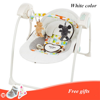 Emperorship Electric Baby Rocking Chair Baby Rocking Chair Chaise Lounge Placarders Chair Cradle Bed Swing Music baby electric automatic baby cradle swing baby rocking chair children calm type swing table on the couch