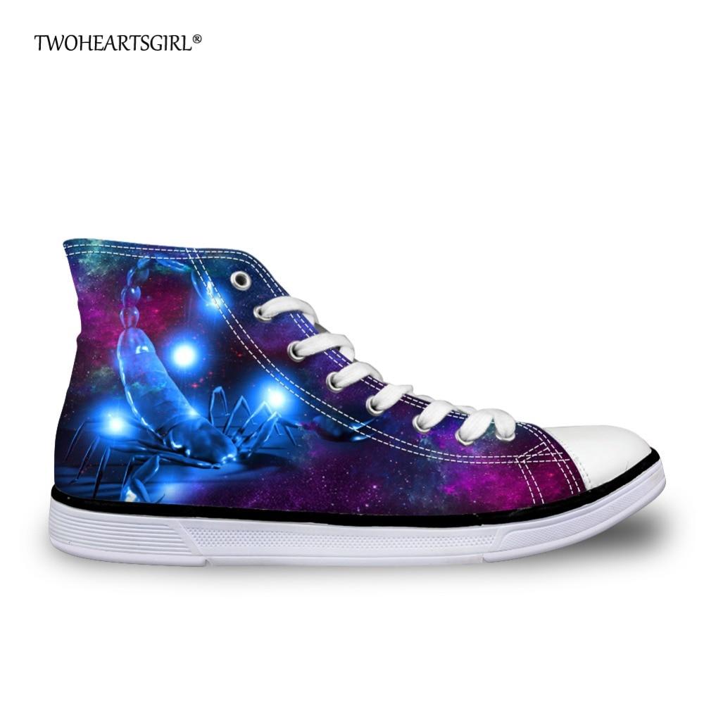 Twoheartsgirl 펑키 프린트 전갈 캐주얼 여성 Vulcanize - 여성 신발