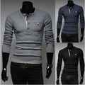 Free shipping New Men's Brand V neck Long Sleeve Cashmere polo sweaters Knitwear fashion designer,polo pullovers plus size