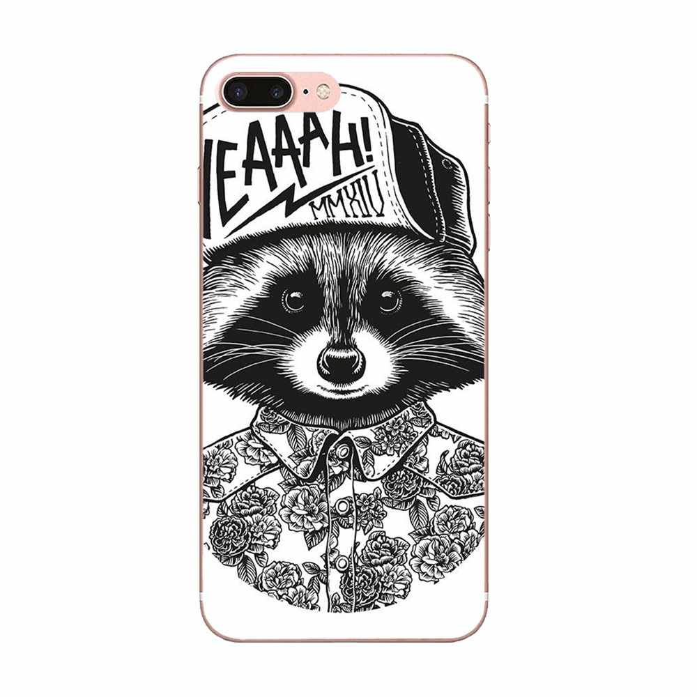 Newest Super Cute Phone Cases For Xiaomi Redmi Note 2 3 3S 4 4A 4X 5 5A 6 6A Pro Plus Raccoon Art Print Dominant