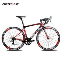2018 Costelo speedmachine Дорожные углерода велосипед полный велосипед 40 мм колеса 3500 group выноса bici дешевые велосипед