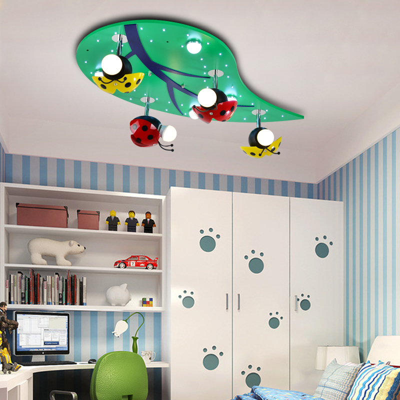 Creative Children Room Led Ceiling Lamps Boy And Baby Lights Lamp Bedroom Ladybug Leaves Za621 Zl210 Ym In From