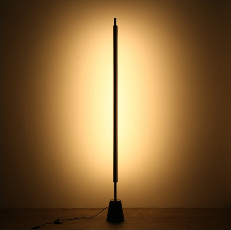 Magic Wand Metal Floor Lamp at night
