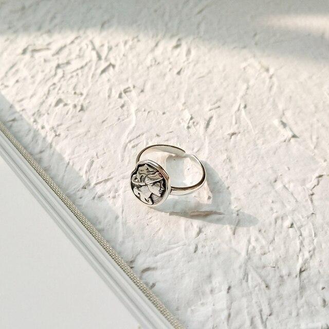 Vintage coin anelli in argento sterling 925 avatar anelli moneta semplice temperamento selvaggio puro multa gioielli charms in argento per le donne regalo