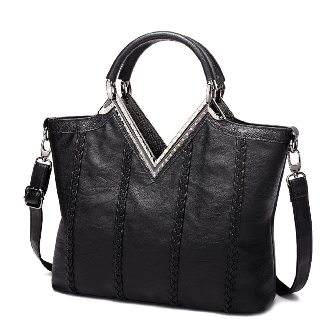ФОТО 2016 Brand New Women's Top-Handle Bags Handbags Pu Leather Weave Vintage Crossbody Bag Designer Tote Bag
