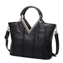 2016 Nagelneuen frauen Top-Griff Taschen Handtaschen Pu-leder Weave Vintage Crossbody Designer-einkaufstasche
