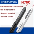[RedStar]KNORWAY N76C Lion battery Red PPT laser pointer pen Powerpoint Flip pen remote 100 meter support PPT/Prezi/Keynote