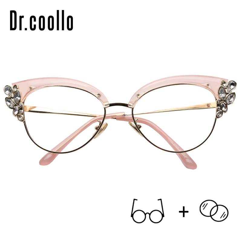 Light-Spectacles Progressive Anti-Blue Prescription Eyeglasses Cat-Eye Optical-Polarized