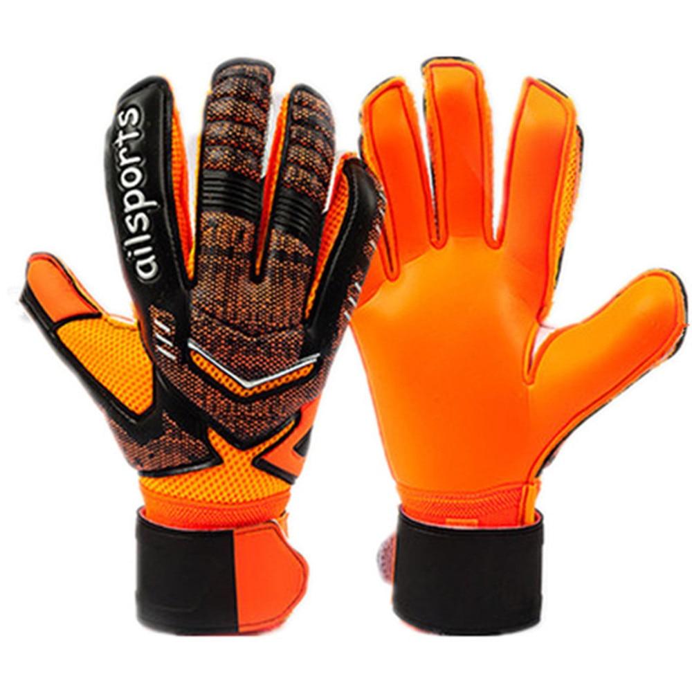 цена на New kids men soccer gloves football goalkeeper gloves 5 finger save protect guard goalie
