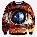 Newest Design men's sweatshirt mechanical glasses printing 3D sweatshirts for men thin hoodies