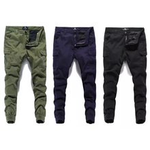 Fashion Classical Men Jeans Jogger Pants Street Denim Cotton Cropped Ankle Banded Army Brand Cargo