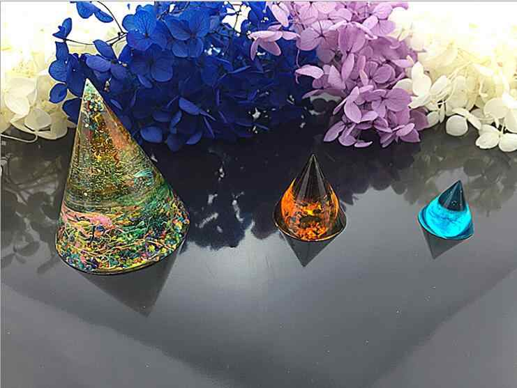 شفافة سيليكون مخروط على شكل برج الطاقة قالب Resin مجوهرات زهرة حقيقية لتقوم بها بنفسك قالب الراتنج قوالب للمجوهرات