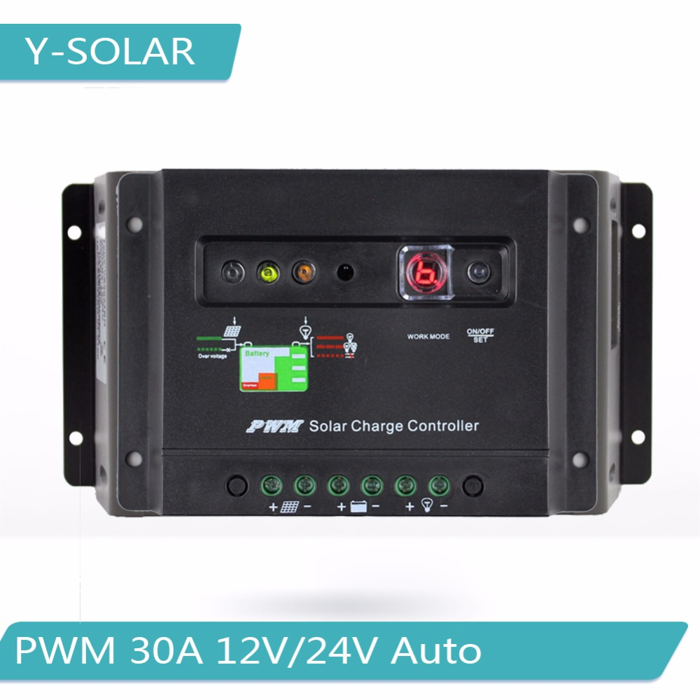 Pwm 30a Solar Charger Controller 12v 24v Auto Panel Charge Mode 6a Small Control Ce Regulator With Led Indicator Light And Timer 30i In Controllers From Home