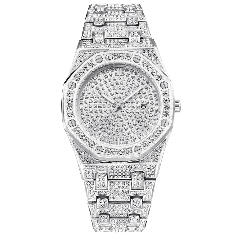 ap design hot fashion mens watches ice out bling diamond quartz watch for men 2019 drop shipping (1)