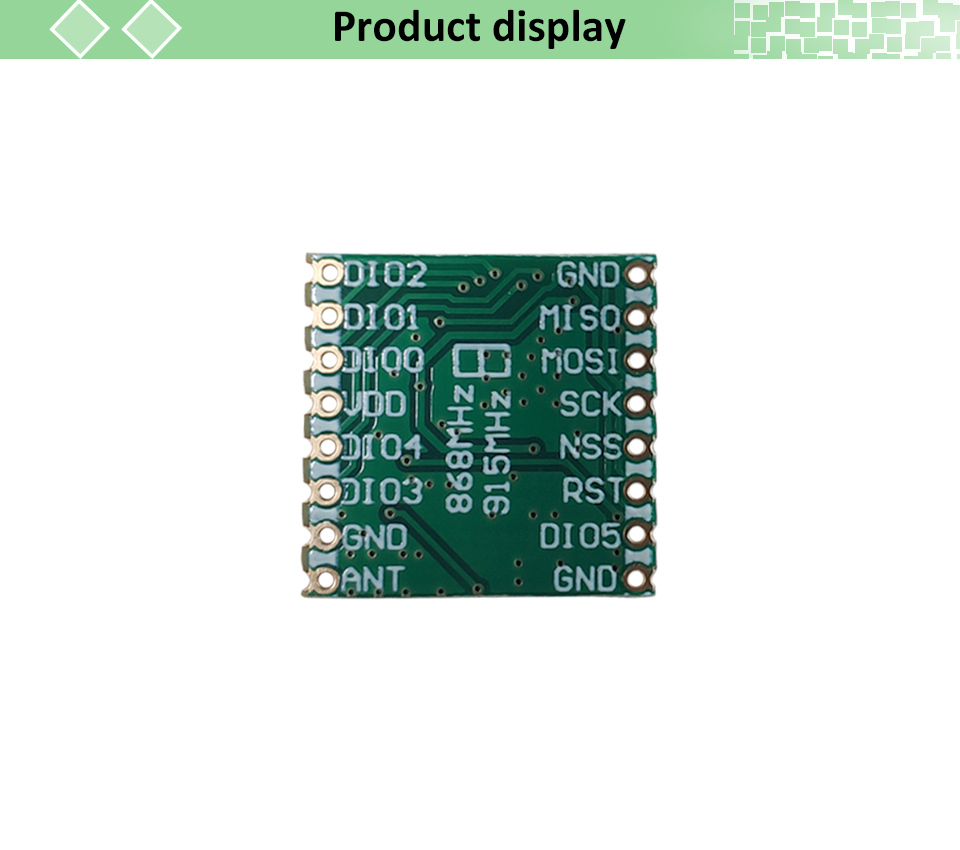 2pcs lorawan Transmitter Module With Original SX1276 Chip For Communication Receiver and Transmitter 9