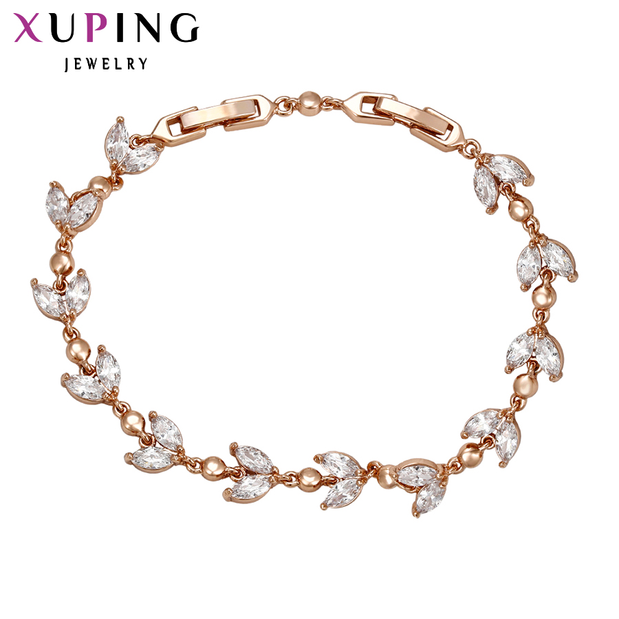 XUPING JEWELRY Bracelet Gold Color Plated CZ for Women