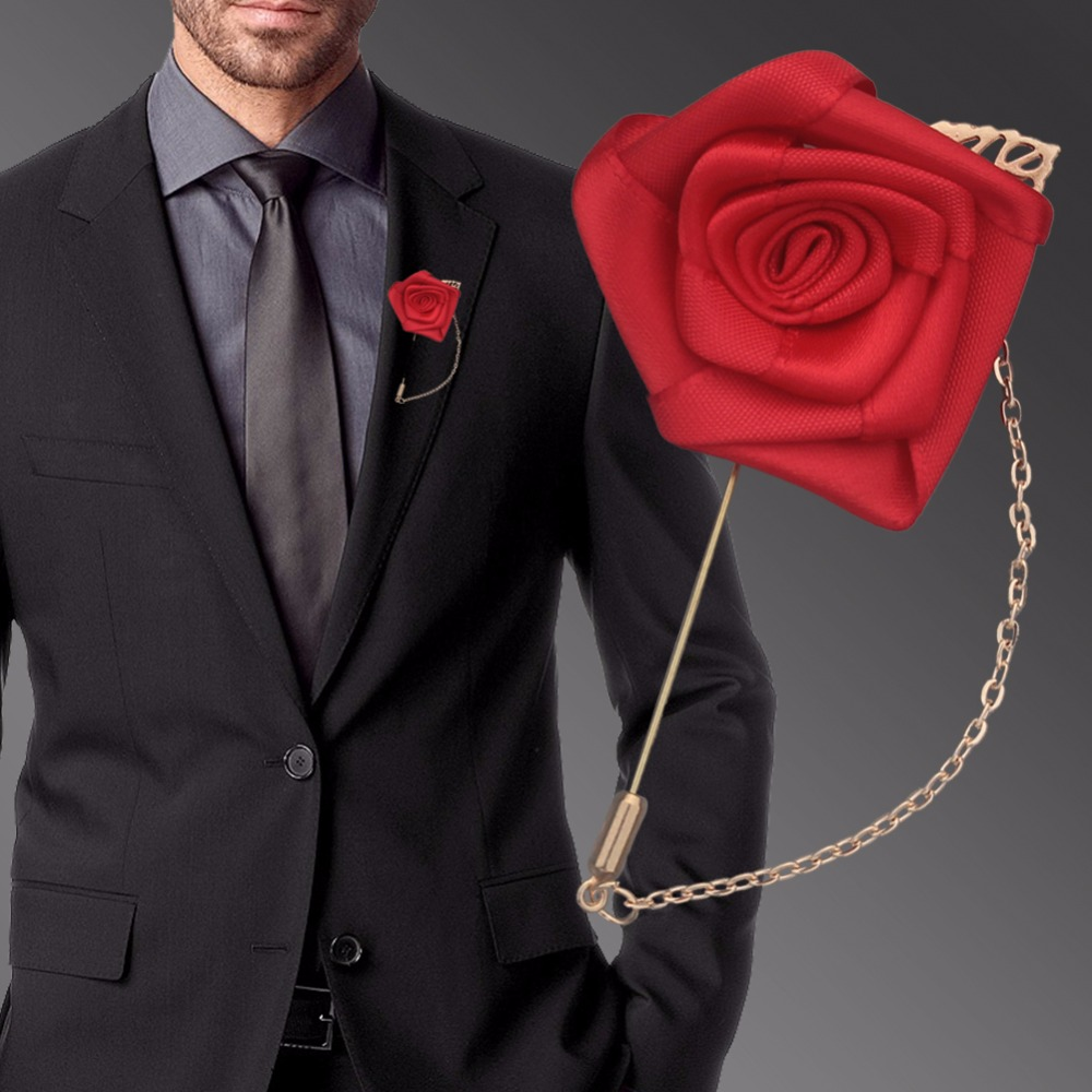 Festliche & Party Supplies Einfache Günstige Elfenbein Satin Rosen Flores Hochzeit Corsage Bräutigam Goldene Legierung Blatt Braut Künstliche Blumen Brosche Xh1000