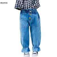 MILANCEl 2018 Girls Clothing Spring Kids Girls Jeans Flare Children Jeans Girls Denim Pants Cute Girls