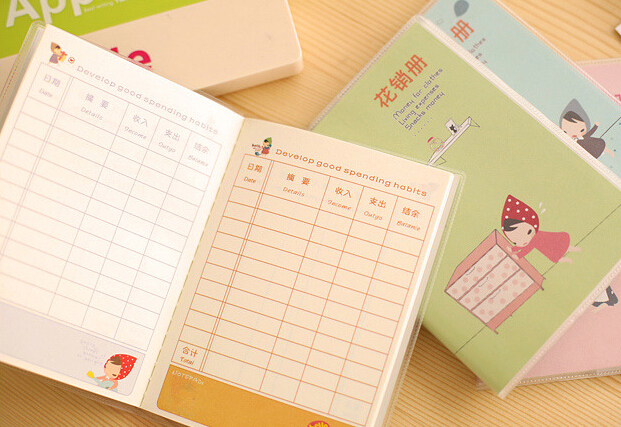 creative stationery lovely scarf girl cash book notebook in