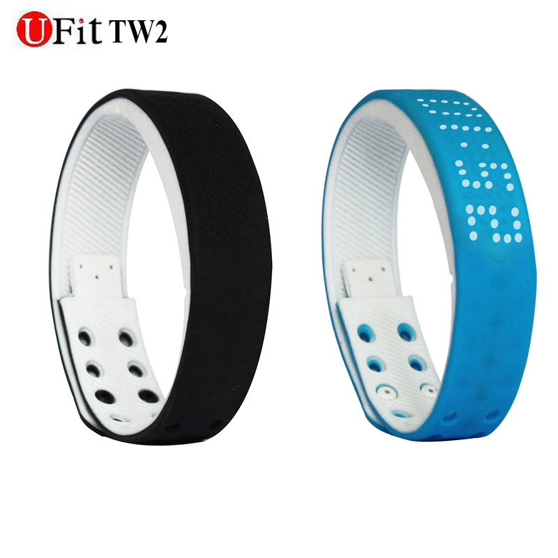 Ufit TW2 waterproof smart wristband sport monitor time dispaly Fitness intellige