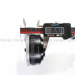 Venes P/L-M4/3, Adjustable Macro to Infinity Lens Adapter For ARRI For Arriflex PL Lens to Suit for Micro Four Thirds 4/3 Camera