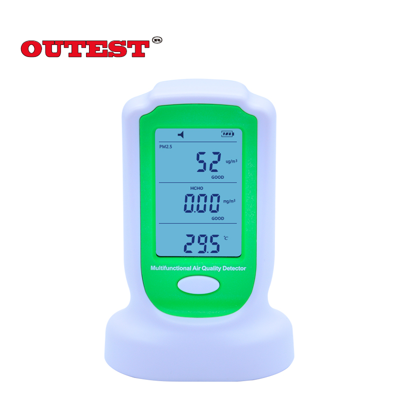 OUTEST GM8804 Digital HCHO PM2.5 PM10 air quality pollution detector formaldehyde monitor air quality detector 0-5000ug/m3 h2s indoor air quality monitor pollution meter