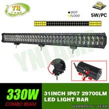 330w 31inch Led Light Bar 66x5W work light  Driving Offroad Light Spot/flood/combo 4D optical lens  29700lm