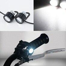 Универсальный 2 шт. мотоциклетный светодиодный головной светильник для вождения мотоцикла Точечный светильник уличный мото противотуманный точечный головной светильник электрический мотоцикл
