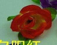 55 см вьющаяся Роза из искусственного шелка(Висячие цветочные шарики для Свадебные украшения - Цвет: sunset red