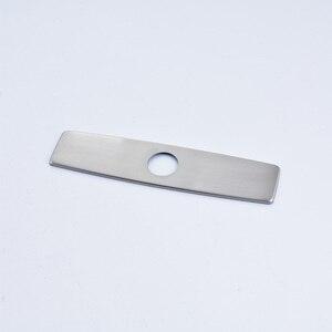Image 2 - Quyanre níquel escovado preto cromo frete grátis 10 Polegada buraco placa de cobertura torneira da cozinha acessórios