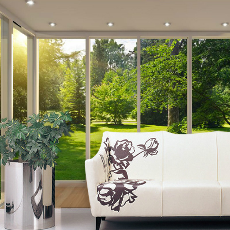 Custom 3d mural wallpaper forest landscape lawn HD false window bedroom living room sofa TV background wall 3D Wallpaper mural large mural living room bedroom sofa tv background 3d wallpaper 3d wallpaper wall painting romantic cherry