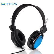 OTHA Wired Gaming Auriculares de 3.5mm Auriculares Estéreo Plegable Auriculares Grandes Auriculares Para el iphone Computadora Del Teléfono Auriculares Gamer