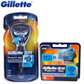 Original Gillette Fusion Proshield Flexball Shaver Shaving Razor Blades With Cool Factor 1 Handle + 5 Blade For Men Shaver