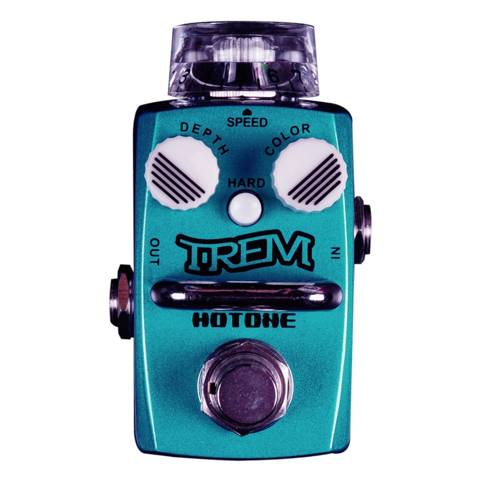 Hotone TREM / Classic Photoelectric Optical Tremolo Effect Pedal Electric Guitar Bass True Bypass / Top Grade Fancier Choice hotone grass classic tube overdrive effect pedal electric guitar bass true bypass top grade fancier choice