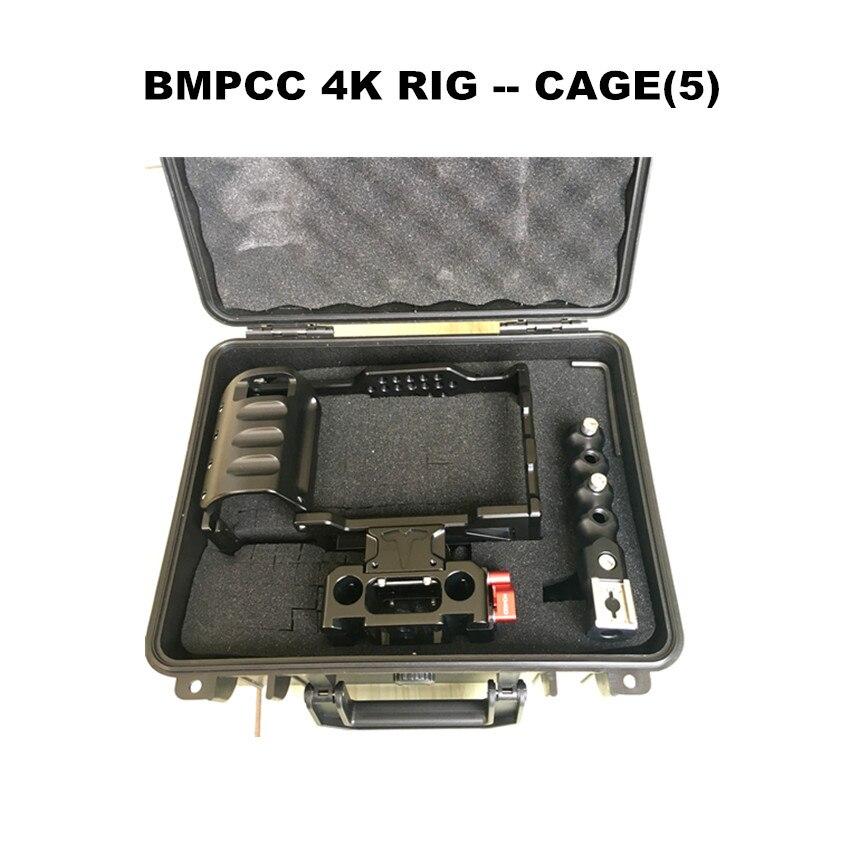 Image 2 - HONTOO BMD BMPCC 4 K клетка Rig DSLR RIG каркасная плита с верхней ручкой 15 мм камера установка для BlackMagic Карманный кинотеатр камера 4 K-in Аксессуары для фотостудии from Бытовая электроника