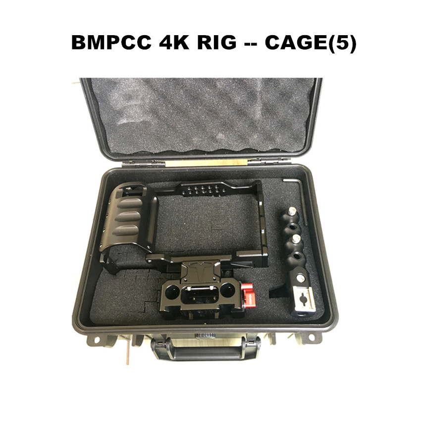 Image 2 - HONTOO BMD BMPCC 4K Cage Rig DSLR RIG Cage Baseplate Top Handle  15mm camera rig FOR BlackMagic Pocket Cinema Camera 4K-in Photo Studio Accessories from Consumer Electronics